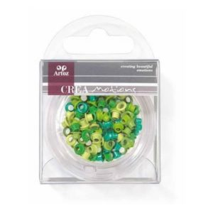 Assorted Green 3mm Eyelets By Artoz