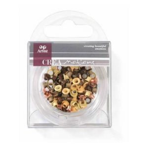 Assorted Brown 3mm Eyelets By Artoz