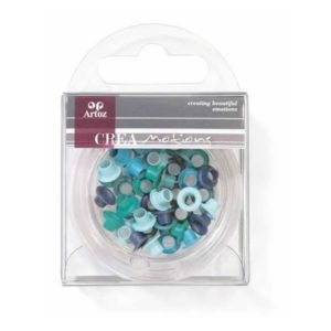 Assorted Blue 5mm Eyelets By Artoz