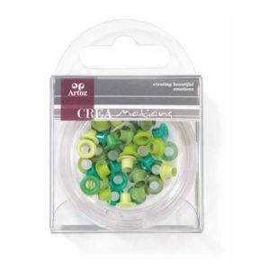 Assorted Green 5mm Eyelets By Artoz