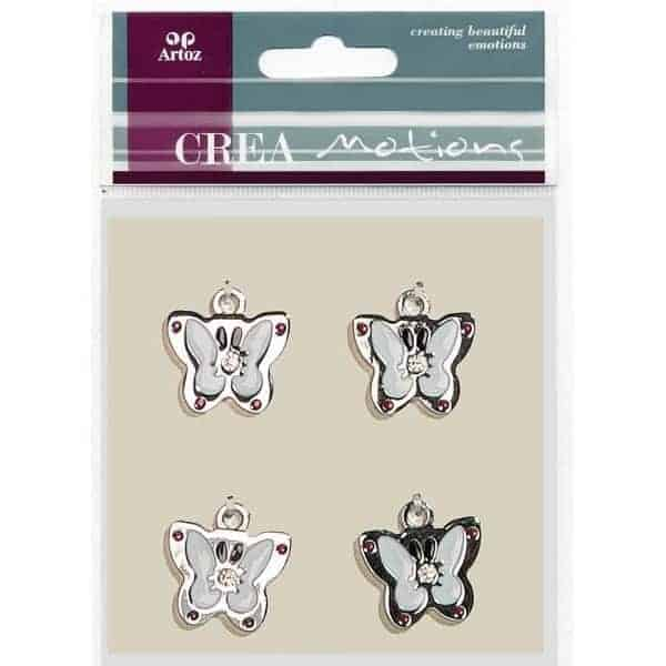 White Butterfly Charms By Artoz