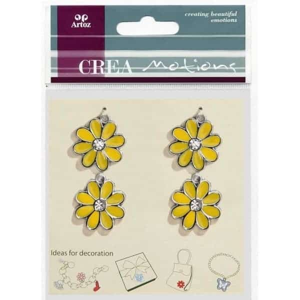Yellow Flower Charms By Artoz