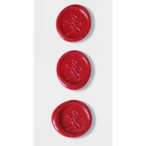 Red Chinese Love Symbol Wax Seals By Artoz