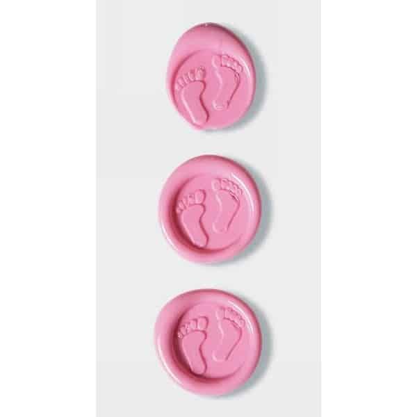 Pink Baby Feet Wax Seals By Artoz