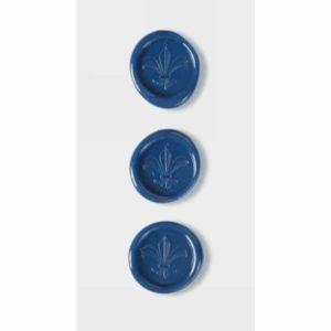 Cobalt Blue Fleur De Lys Wax Seals By Artoz