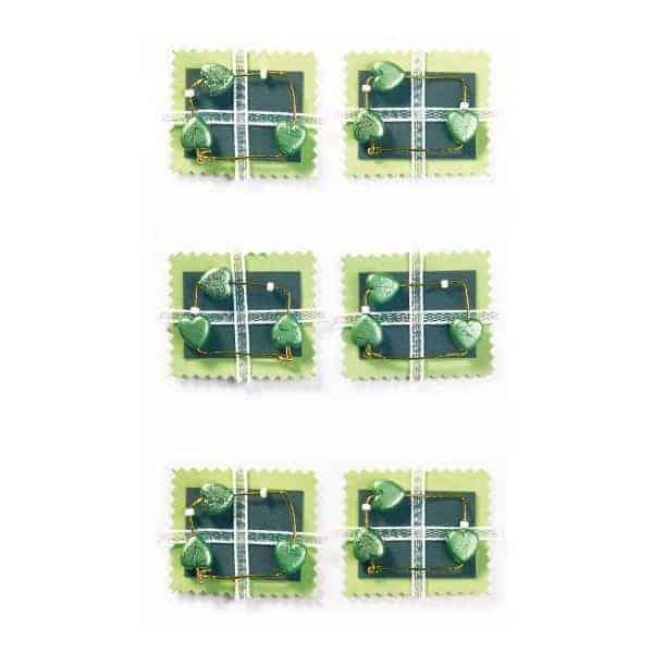 Green Hearts Craft Embellishment By Artoz