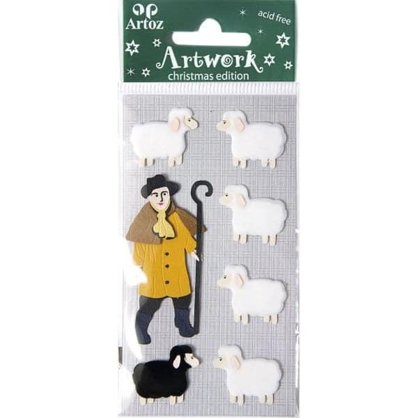 Shepherd And Sheep Craft Embellishment By Artoz
