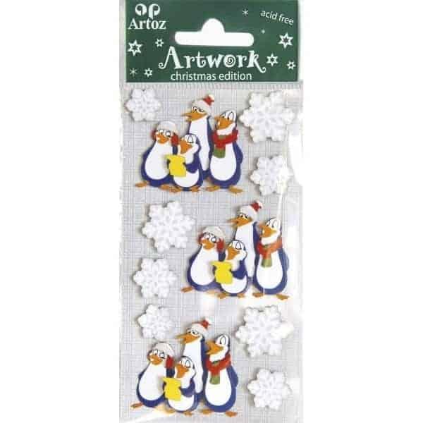 Singing Penguins Craft Embellishment By Artoz