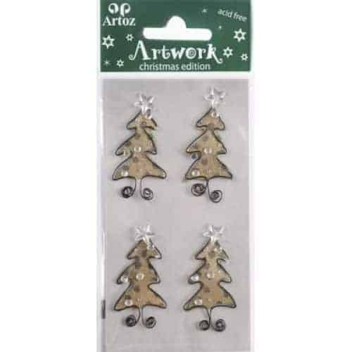 Christmas Trees Card Embellishment By Artoz