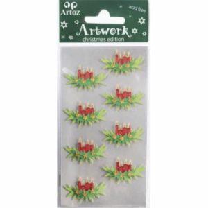 Advent Wreath Christmas Card Embellishments By Artoz
