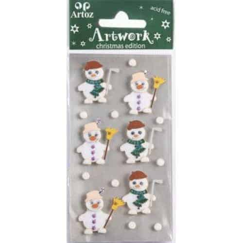 Snowman And Woman Craft Embellishment By Artoz