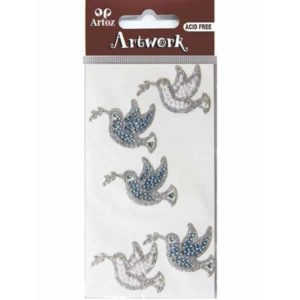 Assorted Crystal Dove Craft Embellishment By Artoz