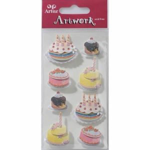 Cakes & Cupcake Card Embellishments By Artoz