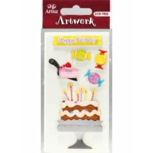 Birthday Cake Card Embellishments By Artoz