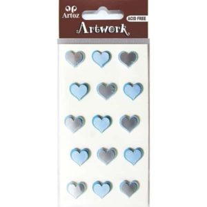 Assorted Blue Hearts Craft Embellishment By Artoz