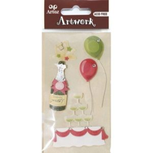 Birthday Party Champagne Craft Embellishment By Artoz