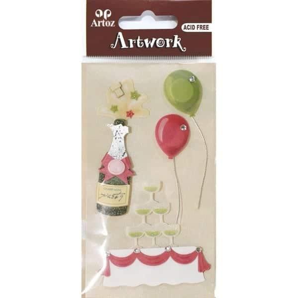 Birthday Party Champagne Craft Embellishment By Artoz