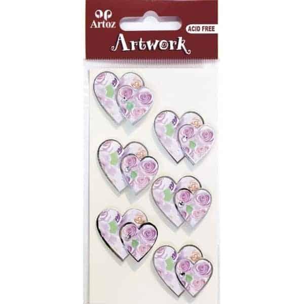 Floral Heart & Diamond Craft Embellishment By Artoz
