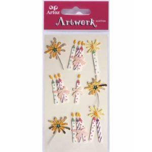Candles & Sparkler Card Embellishments By Artoz