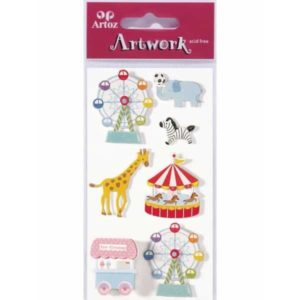 Circus & Circus Animal Card Embellishments By Artoz