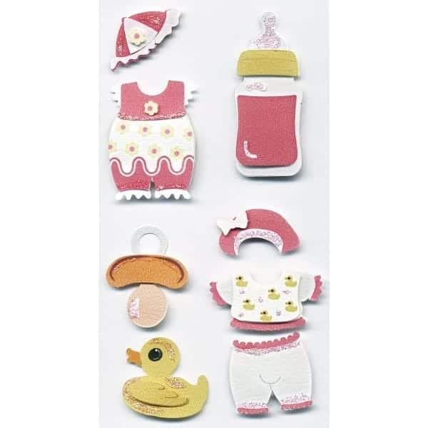 Pink Baby Set Craft Embellishment By Artoz