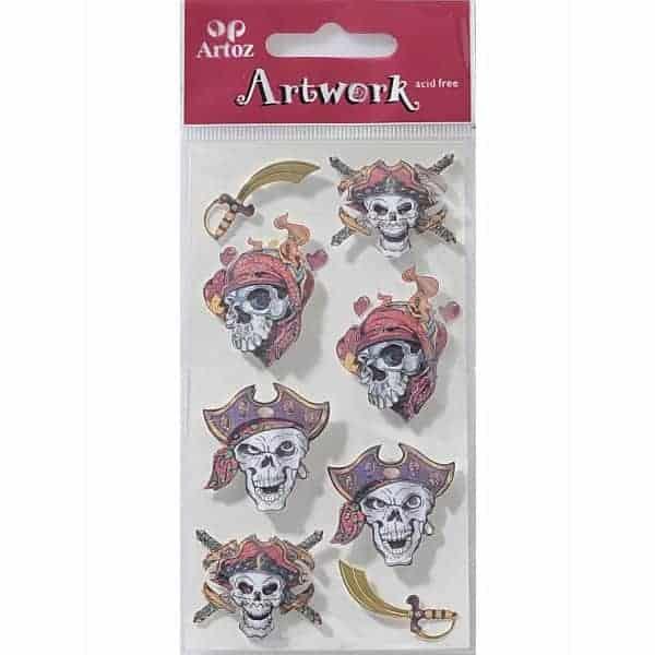 Pirate Skull Craft Embellishment By Artoz
