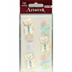 Baby Blue Craft Embellishment By Artoz