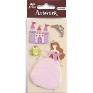Princess And Castle Craft Embellishment By Artoz