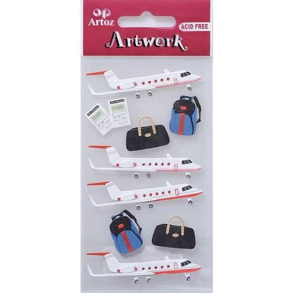 Aircraft & Baggage Card Embellishments By Artoz