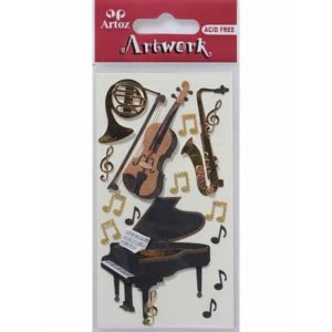 Classical Music Instrument Card Embellishments By Artoz