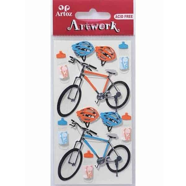 Bicycles / Bike Helmet Card Embellishments By Artoz