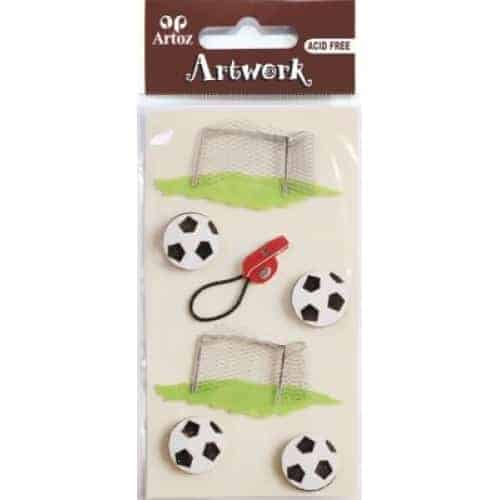 Football And Goal Craft Embellishment By Artoz