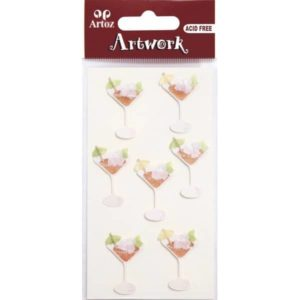 Cocktail Cup Craft Embellishment By Artoz
