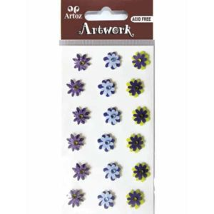 Assorted Dark Colour Flower Craft Embellishment By Artoz