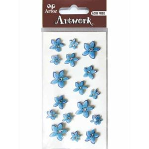 Blue Flower And Crystal Craft Embellishment By Artoz