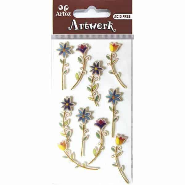 Stemmed Flower Craft Embellishment By Artoz