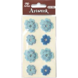 Blue Flower Craft Embellishment By Artoz