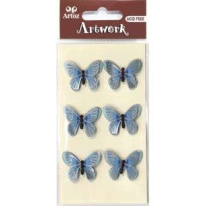 Blue And Silver Butterfly Craft Embellishment By Artoz