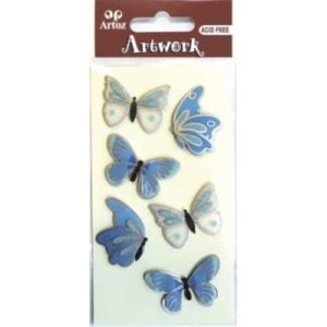 Blue And White Butterfly Craft Embellishment By Artoz