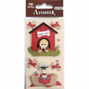 Dog House And Cat Basket Embellishment By Artoz
