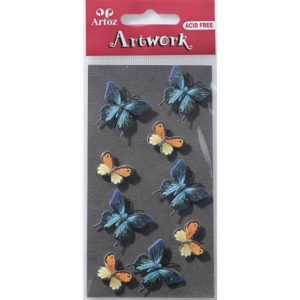 Blue Butterflies Craft Embellishment By Artoz