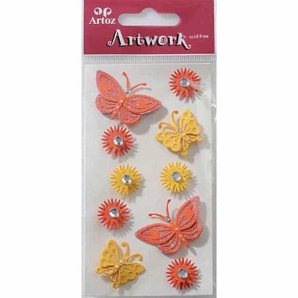 Red Butterflies Craft Embellishment By Artoz