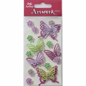 Lilac Butterflies Craft Embellishment By Artoz