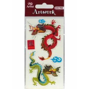 Chinese Dragon Card Embellishments By Artoz