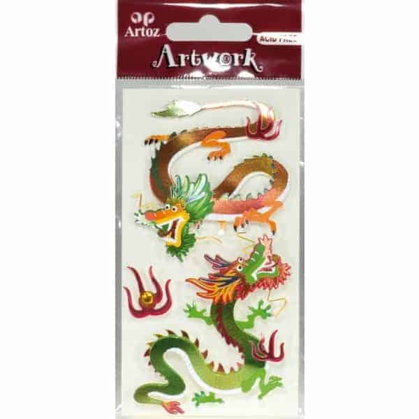 Chinese Dragon II Card Embellishments By Artoz