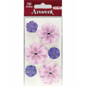 Lilac Floral Bouquets Craft Embellishment By Artoz