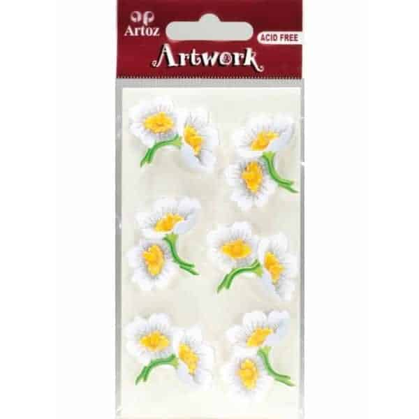 White Floral Bouquets Craft Embellishment By Artoz