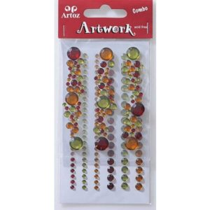 Red, Amber And Green Round Craft Embellishment By Artoz
