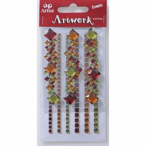 Red, Amber, Green Square Craft Embellishment By Artoz