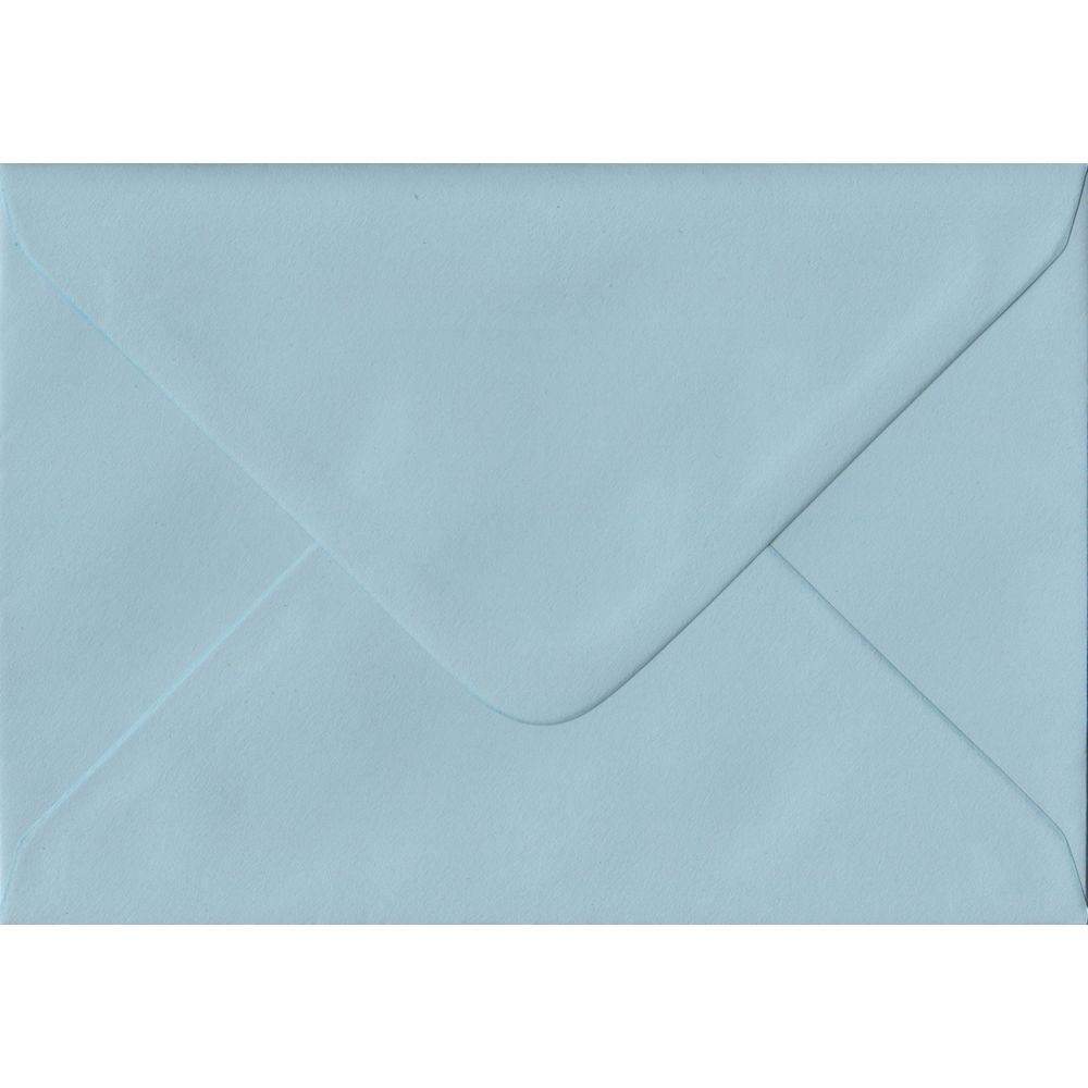 Baby Blue Pastel Gummed C6 114mm x 162mm Individual Coloured Envelope